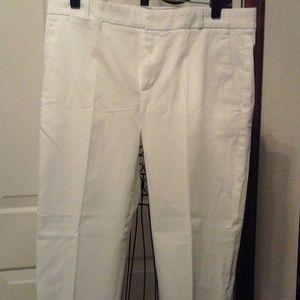 Banana Republic white crop pants size 8 NWT